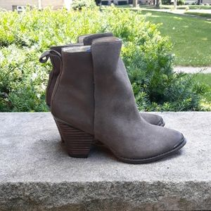 Ella Moss  Natural Victoria 2 Suede Ankle Boots